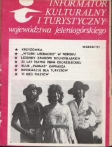 Informator Kulturalny i Turystyczny Województwa Jeleniogórskiego, 1981, nr 3