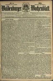 Waldenburger Wochenblatt, Jg. 40, 1894, nr 4