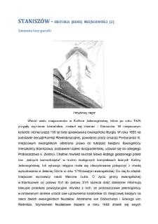 Staniszów - historia jednej miejscowości (2)