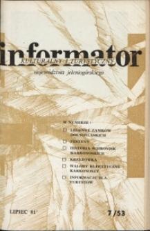 Informator Kulturalny i Turystyczny Województwa Jeleniogórskiego, 1981, nr 7 (53)