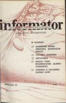 Informator Kulturalny i Turystyczny Województwa Jeleniogórskiego, 1981, nr 9 (55)