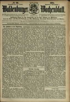 Waldenburger Wochenblatt, Jg. 40, 1894, nr 86