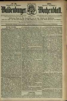 Waldenburger Wochenblatt, Jg. 40, 1894, nr 91