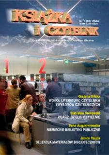 Książka i Czytelnik : pismo bibliotek publicznych województwa dolnośląskiego, 2004, nr 1 (68)