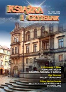 Książka i Czytelnik : czasopismo bibliotekarzy Dolnego Śląska, 2008, nr 1 (80)