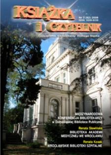 Książka i Czytelnik : czasopismo bibliotekarzy Dolnego Śląska, 2008, nr 3 (82)