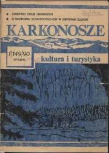 Karkonosze: Kultura i Turystyka, 1990, nr 1 (149)