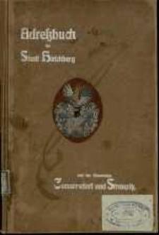 Adressbuch der Stadt Hirschberg und der Gemeinden Cunnersdorf und Straupitz für das Jahr 1905/06. 28. Jahrgang