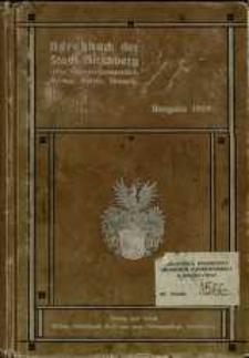 Adressbuch der Stadt Hirschberg und der Gemeinden Cunnersdorf und Straupitz für das Jahr 1909/10. 32. Jahrgang