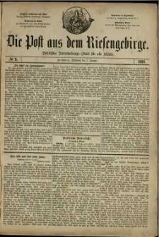Die Post aus dem Riesengebirge, 1881, nr 2