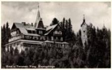 Karpacz Górny - budynek hotelu i Świątynia Wang [Dokument ikonograficzny]
