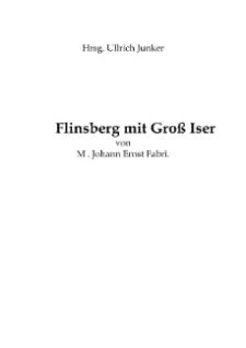 Flinsberg mit Groß Iser von M. Johann Ernst Fabri [Dokument elektroniczny]