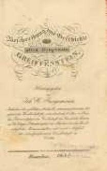 Beschreibung und Geschichte der alten Burgveste Greiffenstein