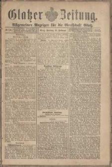 Glatzer Zeitung : Allgemeiner Anzeiger fuer Stadt und Land, 1895, nr 14 [15.02]