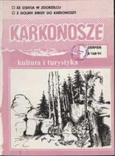 Karkonosze: Kultura i Turystyka, 1991, nr 8 (168)