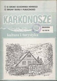 Karkonosze: Kultura i Turystyka, 1991, nr 12 (172)