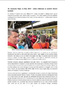 10. wycieczka Rajdu na Raty 2014 – wieże widokowe w czeskich Górach Izerskich [Dokument elektroniczny]