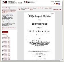 Beschreibung und Geschichte von Warmbrunn und seinen Heil-Quellen