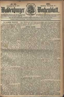 Waldenburger Wochenblatt, Jg. 30, 1884, nr 50