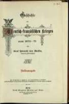 Geschichte des Deutsch : franzöfifchen krieges von 1870-1871