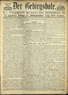 Der Gebirgsbote, 1899, nr 1 [3.01]