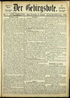 Der Gebirgsbote, 1899, nr 7 [24.01]