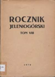 Rocznik Jeleniogórski, T. 8 (1970)