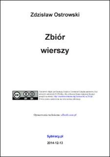 Zdzisław Ostrowski - Zbiór Wierszy