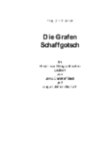 Die Grafen Schaffgotsch im Historisch-Geographischen Lexicon von Jacob Christoff Beck und August Johann Burtorff [Dokument elektroniczny]