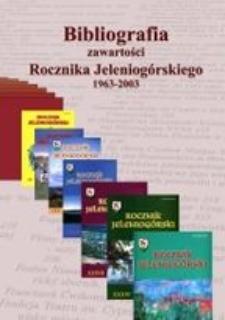 Bibliografia zawartości Rocznika Jeleniogórskiego 1963-2003
