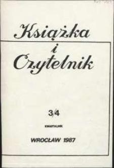 Książka i Czytelnik, 1987, nr 3-4