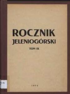 Rocznik Jeleniogórski, T. 9 (1971)