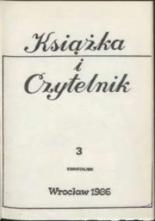 Książka i Czytelnik, 1986, nr 3