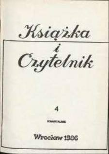 Książka i Czytelnik, 1986, nr 4