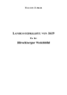 Landessteuerliste von 1619 für das Hirschberger Weichbild [Dokument elektroniczny]