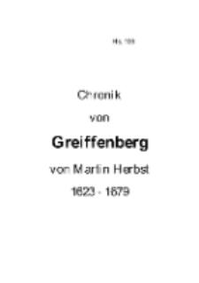 Chronik von Greiffenberg : 1623-1679 [Dokument elektroniczny]