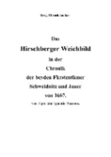 Das Hirschberger Weichbild in der Chronik der beyden Fürstentümer Schweidnitz und Jauer von 1667 [Dokument elektroniczny]