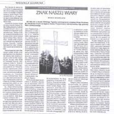 Znak naszej wiary : krzyż pomnik milenijny w Jeleniej Górze