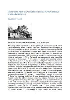 Uratowane piękno, Czyli rzecz o Kosciele pw. św. Marcina w Sobieszowie (CZ. 2). Dalsze losy parafii