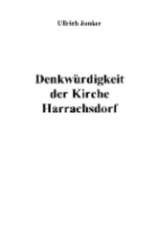 Denkwürdigkeit der Kirche Harrachsdorf [Dokument elektroniczny]