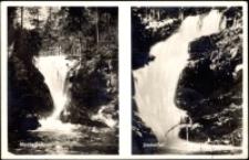 Karkonosze - 1. Wodospad Szklarki 2. Wodospad Kamieńczyka [Dokument ikonograficzny]