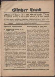 Glatzer Land, 1929, nr 4