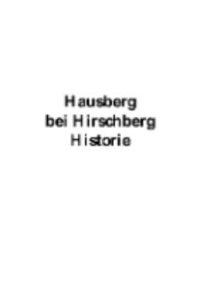 Hausberg bei Hirschberg Historie [Dokument elektroniczny]