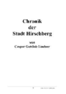 Chronik der Stadt Hirschberg [Dokument elektroniczny]