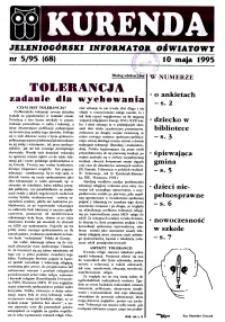 Kurenda : jeleniogórski informator oświatowy, 1995, nr 5 (68)