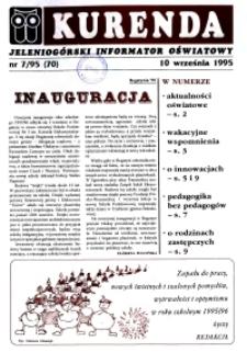 Kurenda : jeleniogórski informator oświatowy, 1995, nr 7 (70)