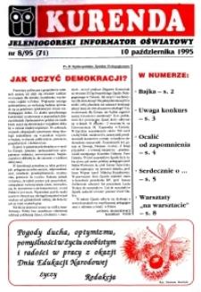 Kurenda : jeleniogórski informator oświatowy, 1995, nr 8 (71)