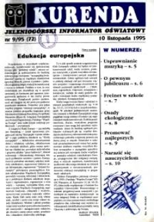 Kurenda : jeleniogórski informator oświatowy, 1995, nr 9 (72)