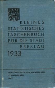 Kleines statistisches Taschenbuch für die Stadt Breslau : 1933