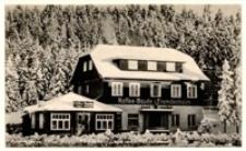 """Karpacz Górny - budynek kawiarni i schronisko domu turystycznego """"Jagd vorbei"""" zimą [Dokument ikonograficzny]"""